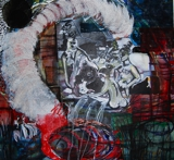 ninfee oil & mixed media on canvas