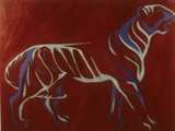 "acrylic on canvas 4""x3"" Tyger Tyger"