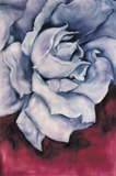 "oil on canvas 3""x4"" A Rose for Kwan Yin"