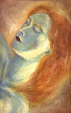 oil on canvas Sleeping Madonna