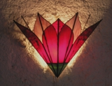 Red Lotus Wall Lamp